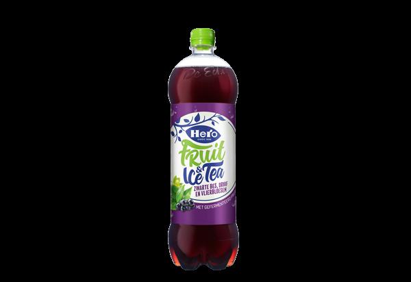 Hero Fruit&Ice Tea Zwarte Bes, Druif & Vlierbloesem 1.25L