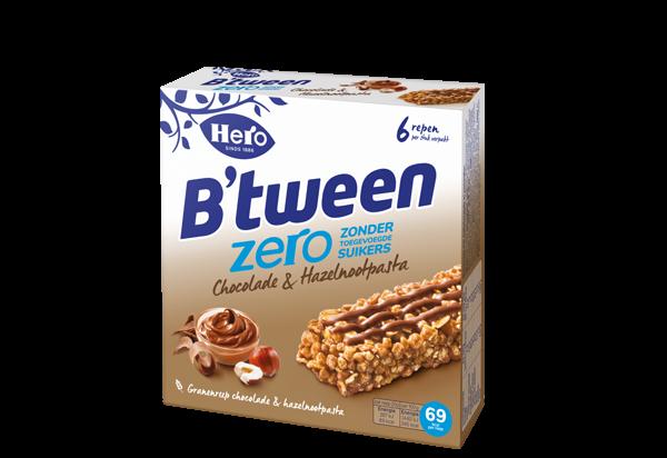 Hero B'tween Zero Chocolade & Hazelnootpasta 6 x 20G